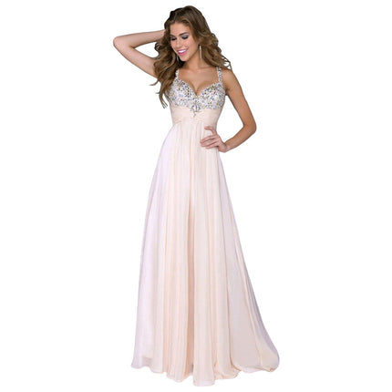 Strapless Sequined Chiffon Party Dresses For Women Summer Maxi Beach Dress