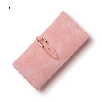 Women PU leather Leaf Long Wallet Coin Purse Change Clasp Purse Card Holders