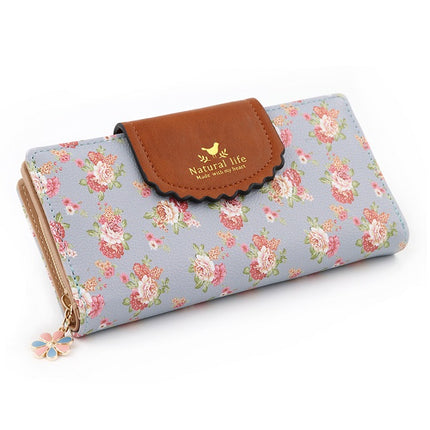 Fashion Flower Women Wallets Embroidery Orchid Phone Wallet High Quality Card Wallet Purse