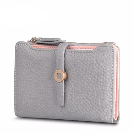 Top Quality Lovely PU Leather Short Women Wallet Change Clasp Purse Coin Card Holders