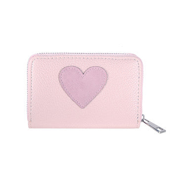 Lovely Lady Purse Heart Pattern Women PU Leather Wallets
