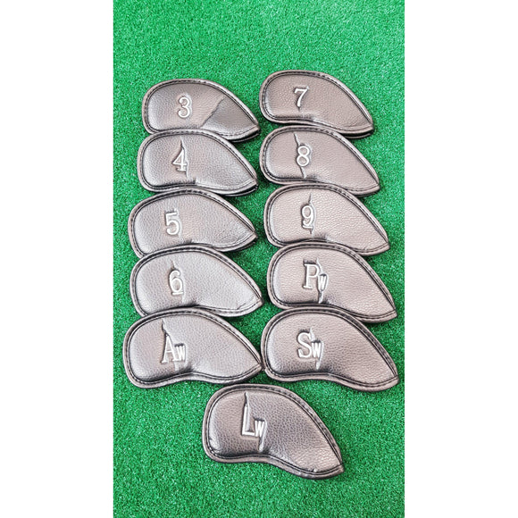 PU LEATHER IRON COVERS - SET-ACCESSORIES-The Golf Gurus