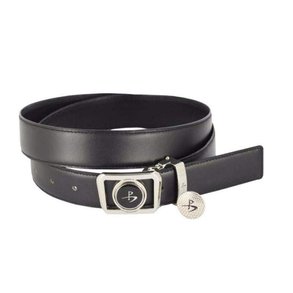 LEATHER GOLF BELT WITH MAGNETIC BALL MARKER-The Golf Gurus