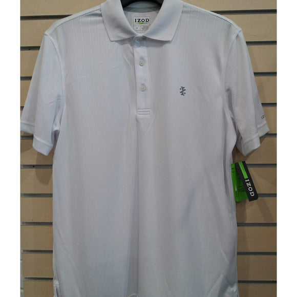 IZOD Jacquard Polo Bright White-The Golf Gurus