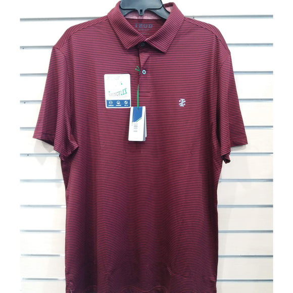 IZOD Greenie Feeder Stripe Polo Club Blue-The Golf Gurus