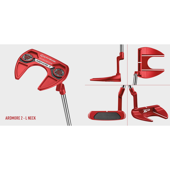 HIRE TM RH TP RED ARDMORE 2 L-NECK PUTTER-The Golf Gurus