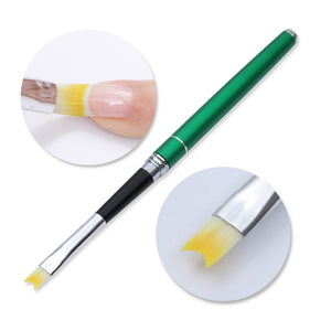 1Pc French Nail Art Brush Smile Half Moon Shape Acrylic Liner Painting Drawing Pen
