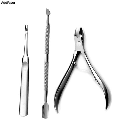 3Pcs Stainless Steel Nail Manicure Set
