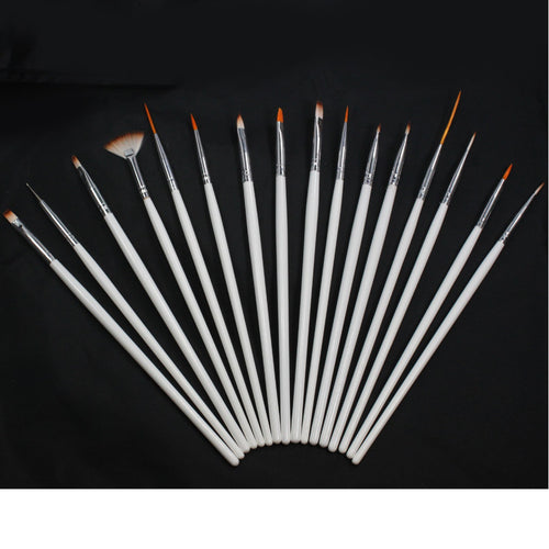 Nail Art Pen Brush Set (16 pieces)