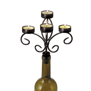 Twine Wine Bottle Candelabra