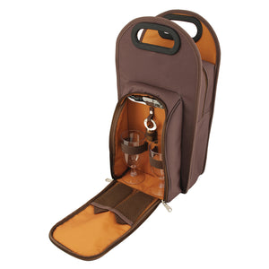 True Brown Metropolitan Picnic Bag Set (2-Bottle)