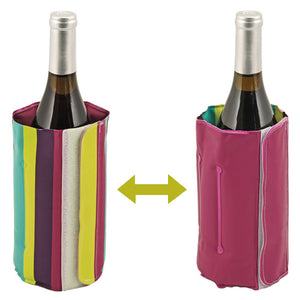 Retro Stripes Wine Bottle Cooler Pack