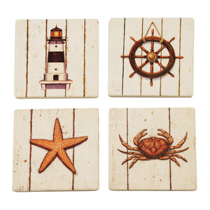 Twine Nautical Sandstone Coasters (Set of 4)