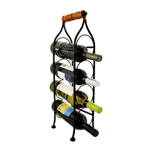 Twine Climbing Tendril 4-Bottle Wine Rack