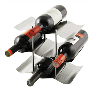 True The Wave 9-Bottle Wine Rack