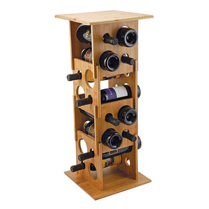 Deco Tower - 16-Bottle Stackable Wine Rack