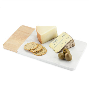 Dynamic Marble and Wood Cheeseboard