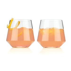 Viski Raye: Crystal Cocktail Tumbler Set