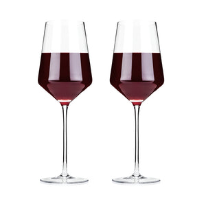 Viski Raye: Crystal Bordeaux Glass Set