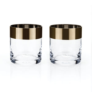 Irving: Bronze Rim Tumbler Set