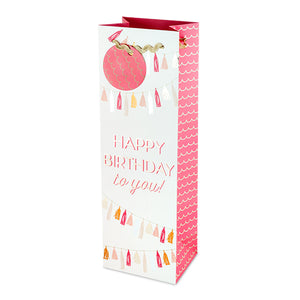 Happy Birthday Tassel Gift Bag