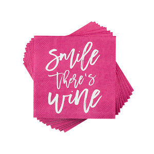 Smile There is Wine Napkins