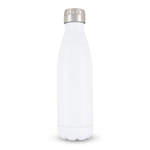 True2Go: White Stainless Steel Bottle