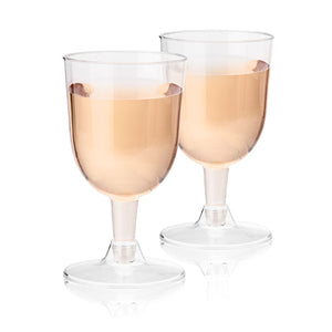 6oz Plastic Wine Glass Set - 20 pc