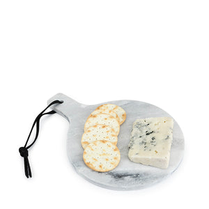 Round Marble Cheeseboard in Gray
