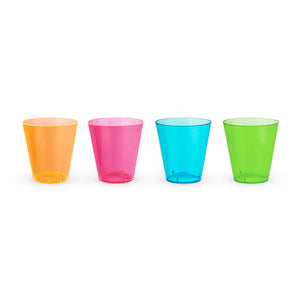 Assorted 2oz Neon Shot Glasses, set of 60