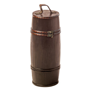 Twine Barrel Shaped Wood Box