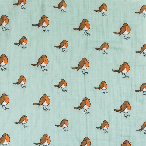 Little Blue Nest pattern collection - Little Robin