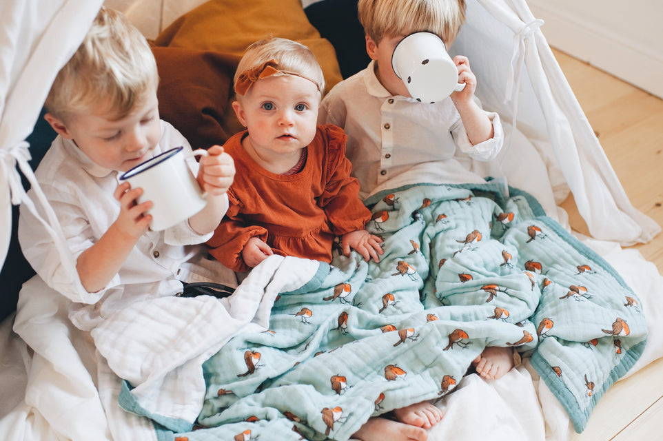 Little Blue Nest - Organic cotton muslin products to snuggle your little one