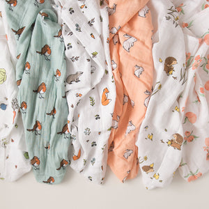 Little Blue Nest organic cotton muslin baby essentials