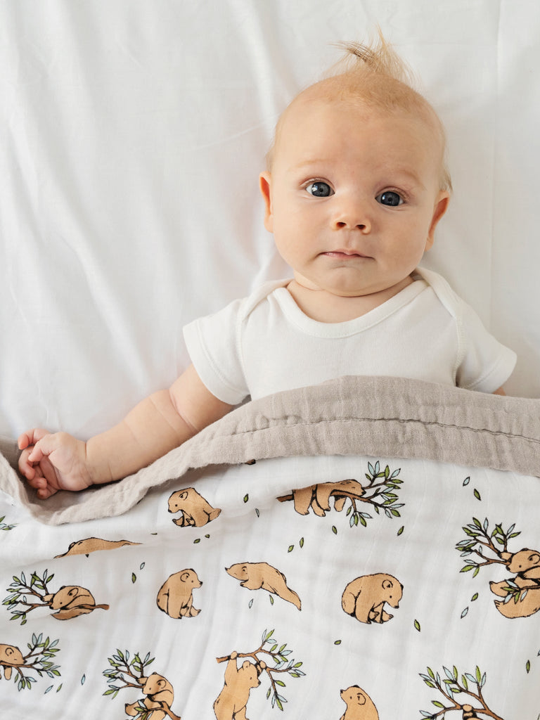 Bear blanket baby | Little Blue Nest