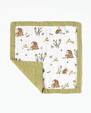 cotton muslin comforter front hedgehog woodland