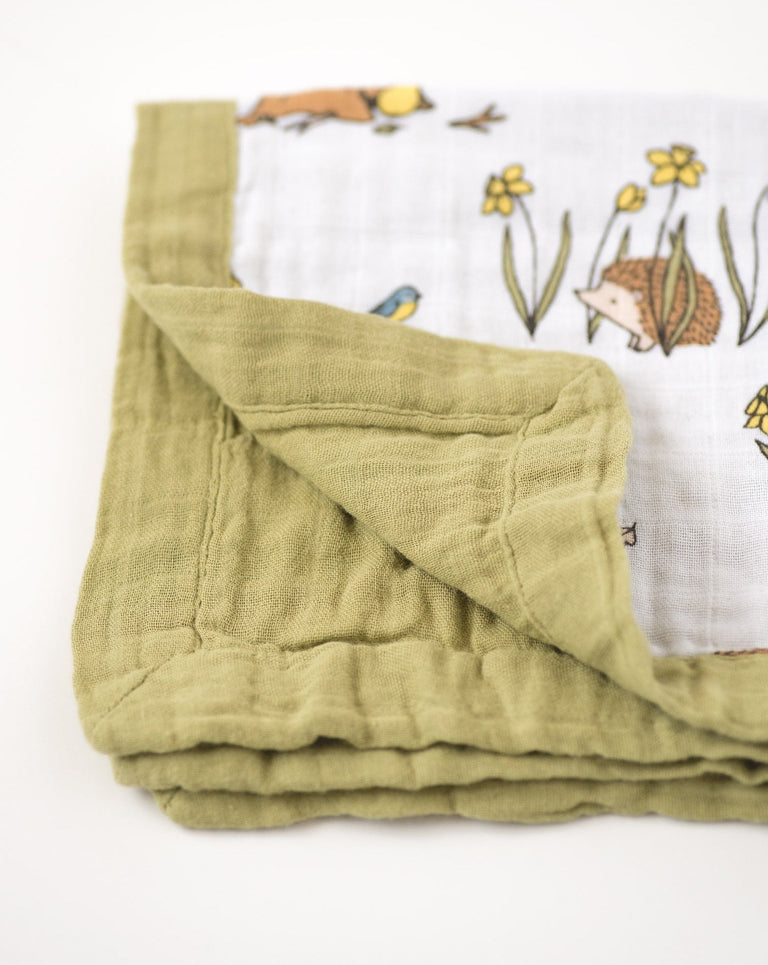 security blanket for baby cotton muslin edge detail