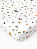 Cotton muslin fitted coted sheet 140 x 70 | Little Blue Nest