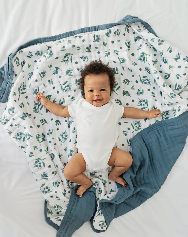 Blueberry baby cotton quilt blanket | Little Blue Nest