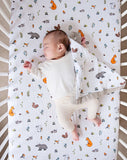 Organic cotton fitted cot sheet into the woods