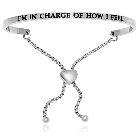 Stainless Steel I'm In Charge Of How I Feel Adjustable Bracelet