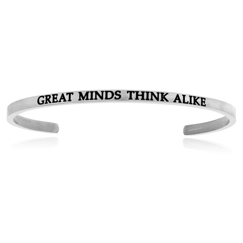 Stainless Steel Great Minds Think Alike Cuff Bracelet