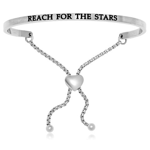 Stainless Steel Reach For The Stars Adjustable Bracelet