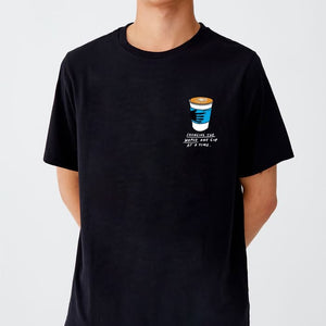 Coffee Lyfe T-shirt - Changing the World Black (unisex)