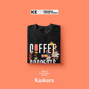ICE 2019 Official T-shirt x Coffee Connects People Black (unisex)