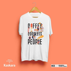 ICE 2019 Official T-shirt x Coffee Connects People White (unisex)