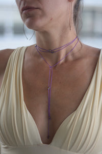 VOW BEADED STRING CHOKER