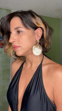 BULLHORN DISK EARRINGS