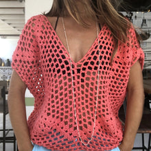 BUBBLES CROCHET DEEP V BLOUSE