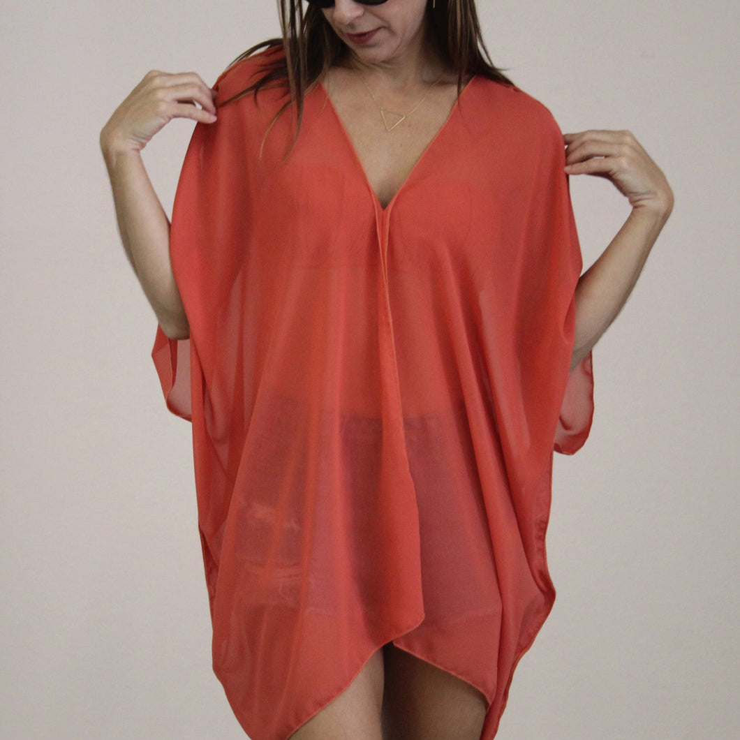 COVER UP V TUNIC DRESS
